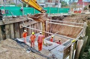 El lunes retoman la obra del desagüe Espora y planean terminarla en enero
