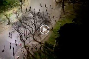 Video: violento enfrentamiento entre barras de Gimnasia y Estudiantes
