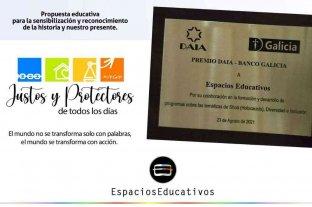 Espacios Educativos recibió el premio DAIA-Banco Galicia por su curso virtual