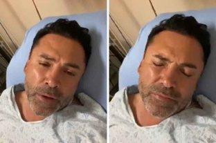 """Óscar de la Hoya confirmó que está internado por coronavirus: """"Estoy dolorido, no puedo respirar bien"""""""