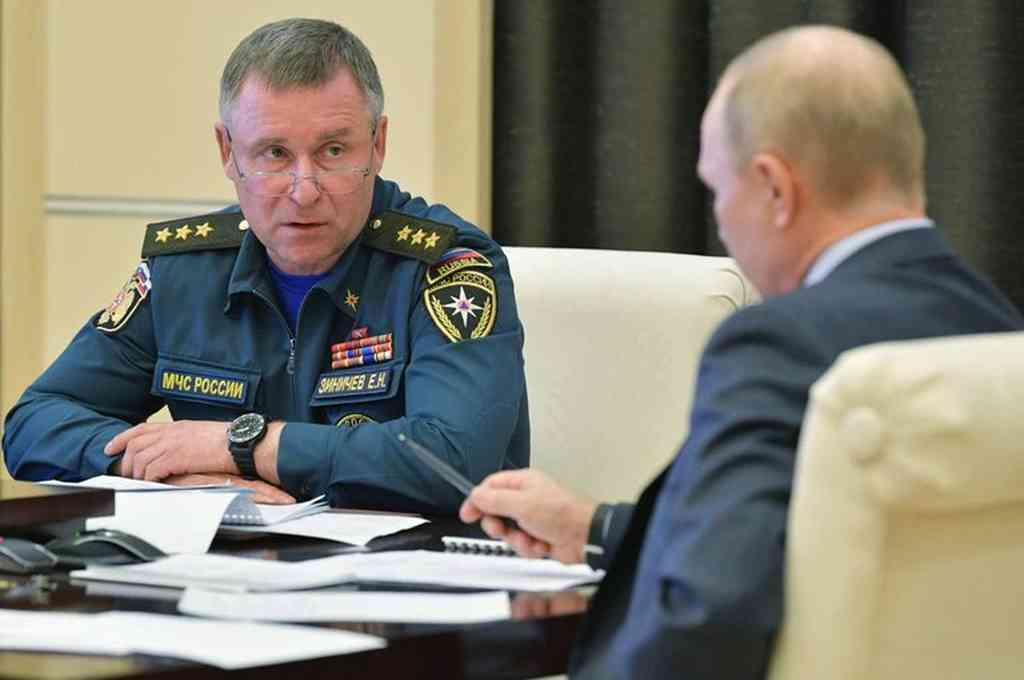 Yevgeny Zinichev junto a Putin. Crédito: Imagen ilustrativa