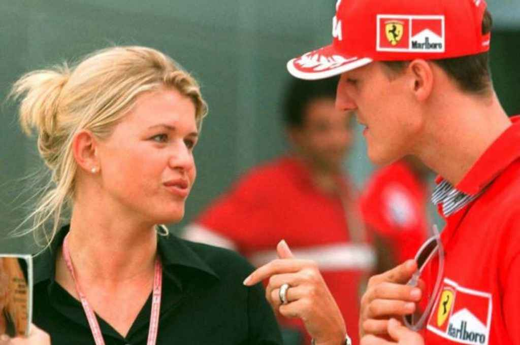 Michael Schumacher y su esposa Corinna. Crédito: Gentileza