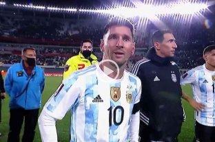 """La emoción de Messi tras la victoria: """"Busqué hace mucho esto, lo soñé y gracias a Dios se me dio"""""""