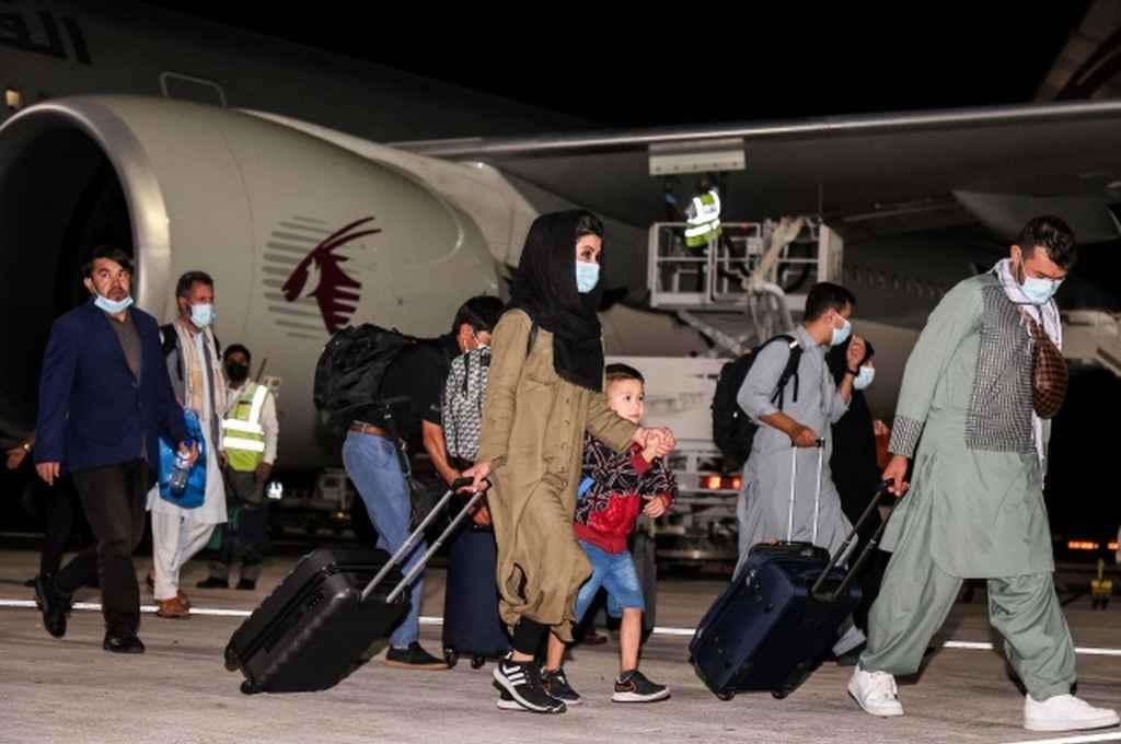 Se trata del primer vuelo desde que el 31 de agosto pasado finalizara la caótica evacuación de más de 120.000 personas.   Crédito: Gentileza