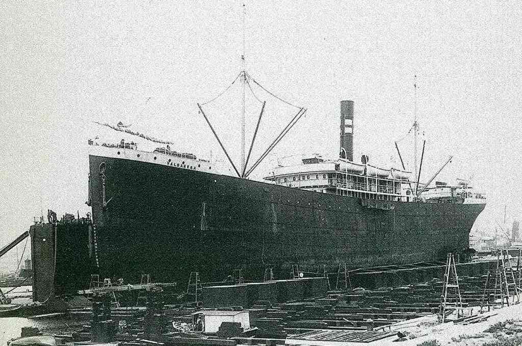 El Valbanera, construido en Glasgow en 1906, tenía 122 metros de eslora, alcanzaba los 12 nudos de velocidad y tenía capacidad para 1.152 pasajeros. Crédito: Imagen ilustrativa