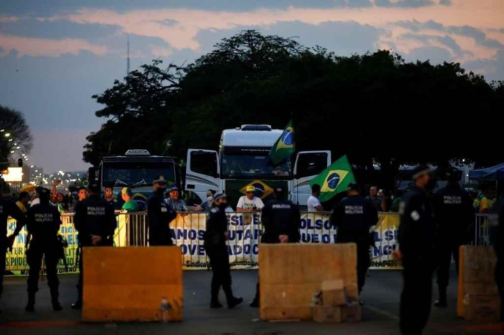 En Brasil persisten los cortes y manifestaciones de la ultraderecha pero en rutas provinciales, no nacionales.    Crédito: Gentileza