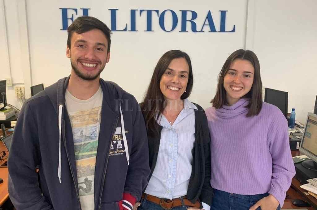 De izq. a der. Gonzalo Fracchia, Lía Masjoan y Pilar Paez.   Crédito: El Litoral