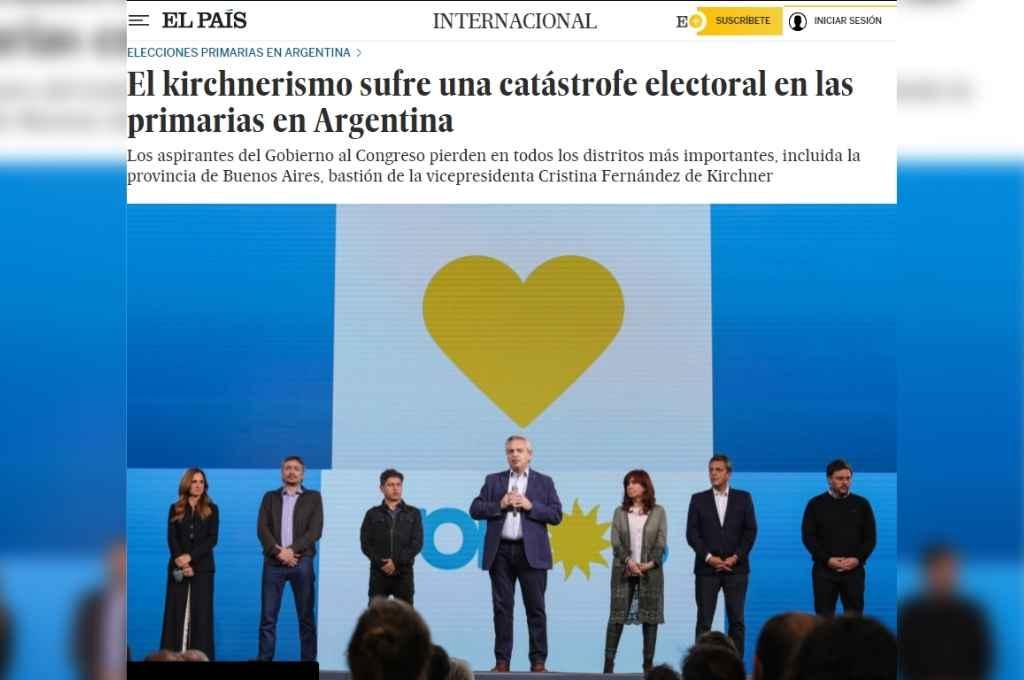Así informaron de las elecciones argentinas en el medio