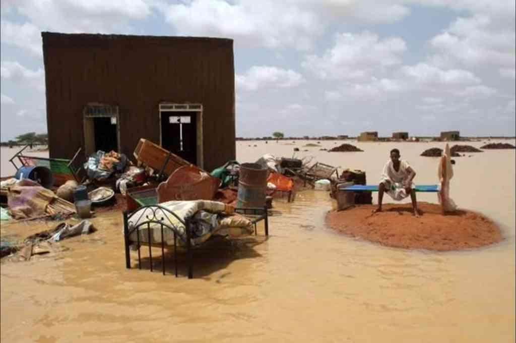 Graves inundaciones en Sudan. Crédito: Twitter