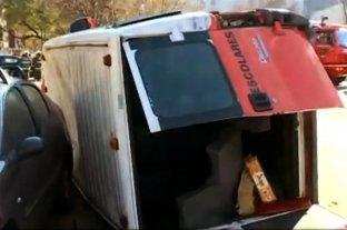 Chocaron un micro escolar  y una camioneta en Colegiales