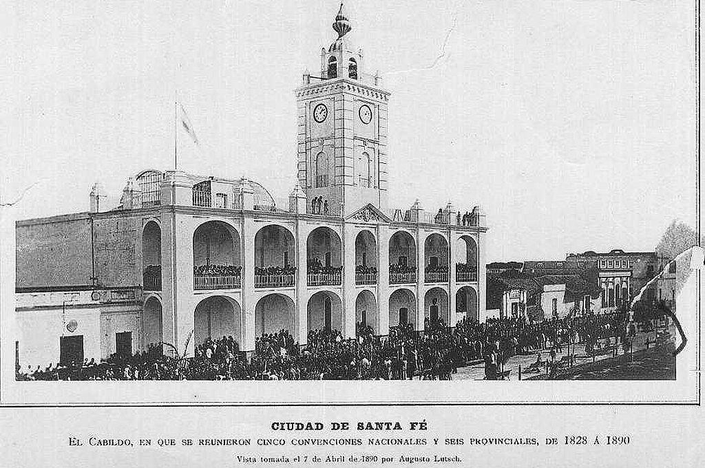 Fachada del Cabildo de Santa Fe, primer repositorio de la documentación del archivo santafesino. Crédito: Archivo