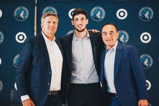 Otro argentino en la NBA: Bolmaro fue presentado en los Minessota Timberwolves