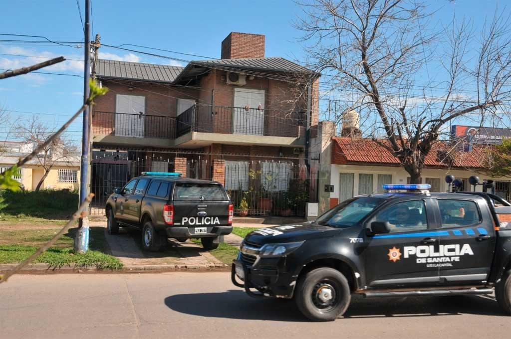 La casa del ex jefe de Policía se ubica en Castelli 4300, en barrio Piquete Las Flores. Crédito: Archivo El Litoral