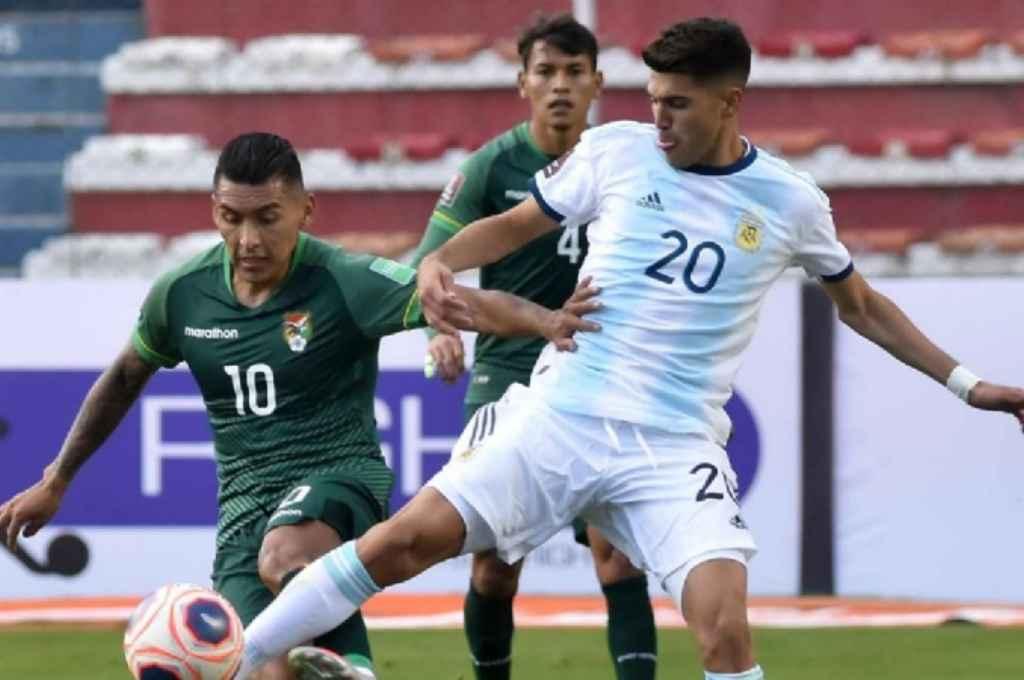 Ezequiel Palacios fue titular ante Bolivia en La Paz por Eliminatorias.  Crédito: Gentileza