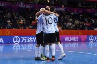 La Selección Argentina de futsal venció a Serbia en la segunda fecha del mundial