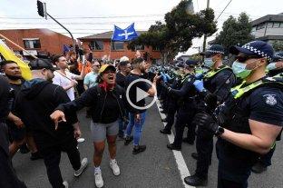 Disturbios en Australia en una protesta contra el confinamiento