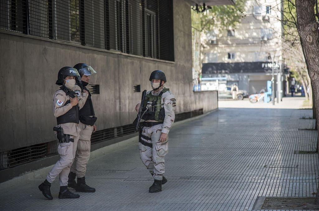 Custodia en el Centro de Justicia Penal de Rosario. Crédito: Marcelo Manera