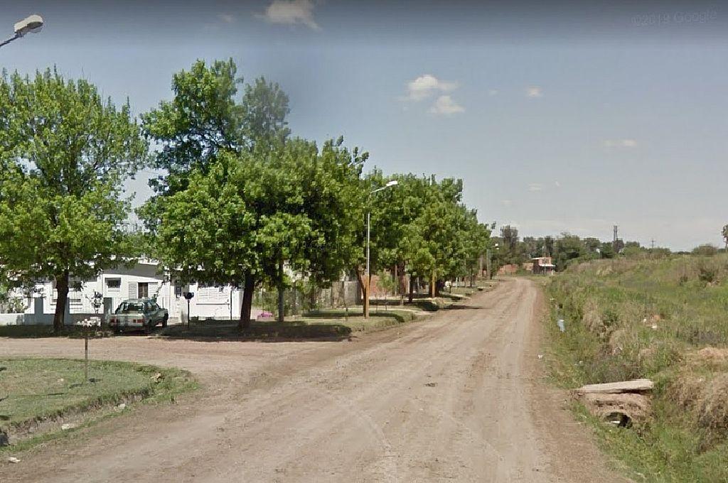 Esquina de Callao y Namuncurá, barrio Martín Fierro, donde ocurrió el tercero de los homicidios, en Granadero Baigorria.