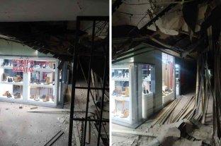 Cedió el techo de la galería de Cortada Falucho y San Martín: no hay heridos  -