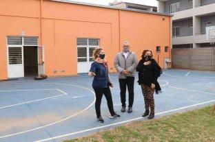 Calvo visitó instituciones educativas en Rafaela