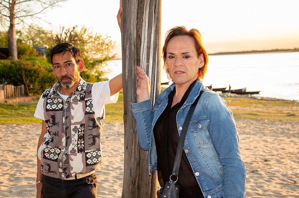Juan Pablo Giménez y Ale Silvetti, referentes de la agrupación Resurgientes La Paz.  Foto:Melisa Curá