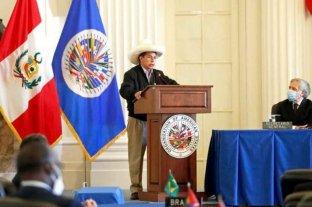 Pedro Castillo negó ser comunista ante la OEA y pidió inversiones extranjeras en su país