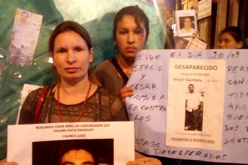 Las esposas de Miño y Quintana siguen pidiendo justicia.