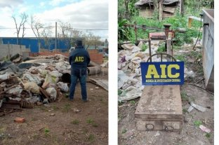 Cayó una banda que robó 200 toneladas de material a una empresa ferroviaria