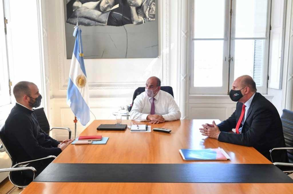 Perotti en la Rosada: reunión con   7 ministros y saludo al presidente -  -