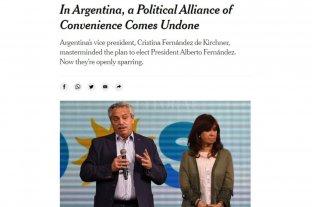 """El """"matrimonio político"""" de Alberto y Cristina """"se desintegra"""", según el New York Times"""