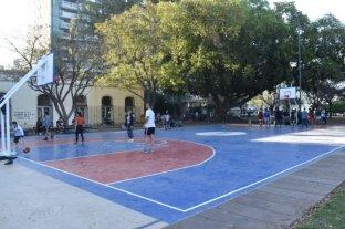 NBA intervino el parque Urquiza de Rosario para un evento