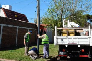 La Municipalidad inició la obra  para iluminar barrio Guadalupe