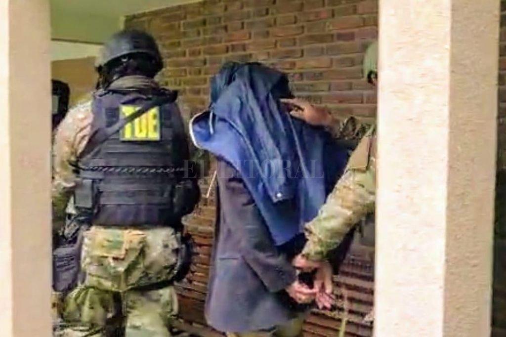 Leonardo Peiti cuando fue detenido. Crédito: Archivo