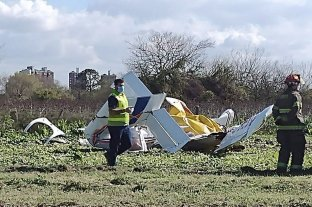 Cayó una avioneta cerca de la Autopista Buenos Aires-La Plata: hay dos muertos -