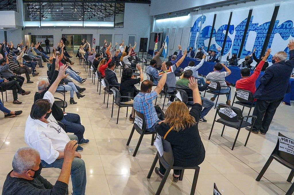 Asamblea de Festram realizada este viernes. Crédito: Prensa Festram