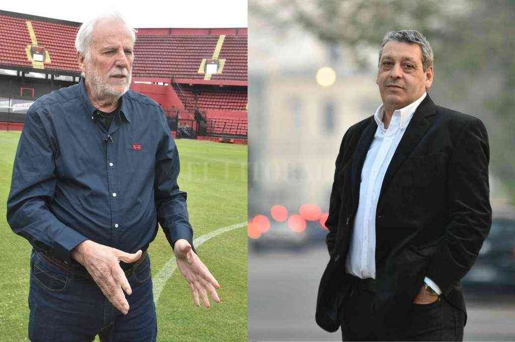 José Néstor Vignatti y Ricardo Magdalena, encabezan las dos listas que definirán el futuro de la institución sabalera. Crédito: El Litoral