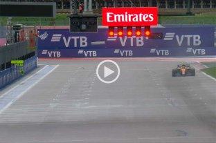 """GP de Rusia: Hamilton chocó en boxes y Lando se quedó con la """"pole"""""""