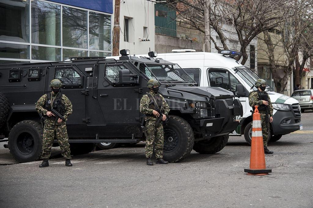Fuerzas Federales en la ciudad de Rosario. Crédito: Marcelo Manera