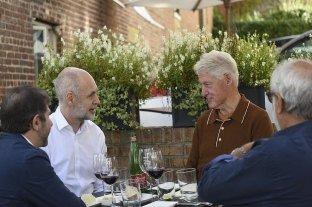 Rodríguez Larreta se reunió con Bill Clinton en su gira por Estados Unidos