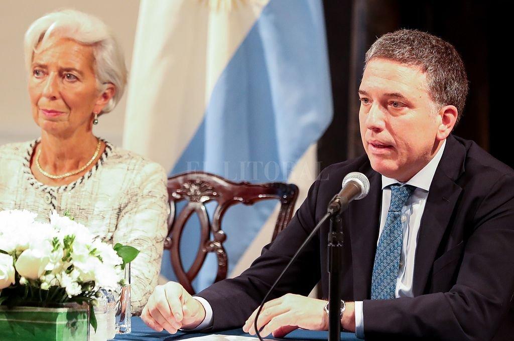 La extitular del FMI, Christine Lagarde, junto a Dujovne. Crédito: Archivo El Litoral