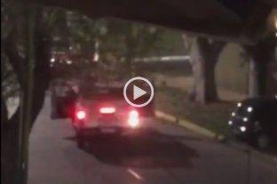 Video: Intentaron robar en una casa y se enfrentaron a la policía con una ametralladora