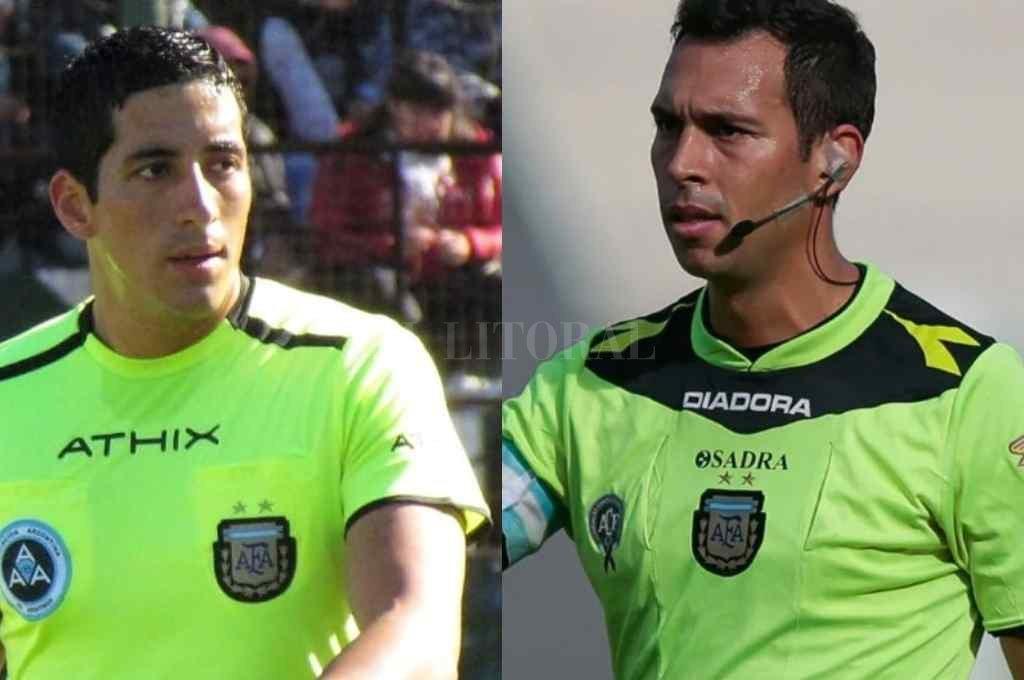 Yael Falcón Pérez y Facundo Tello, los árbitros para Unión y Colón en la fecha 14. Crédito: Gentileza