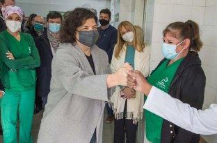 Operaron de apendicitis aguda a Carla Vizzotti