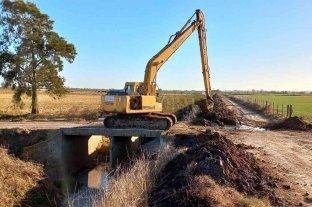 Pilar: fuerte avance de obras en el canal de defensa oeste