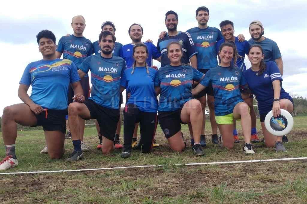 Malón Ultimate, uno de los equipos que practica ultimate en Santa Fe Crédito: Gentileza