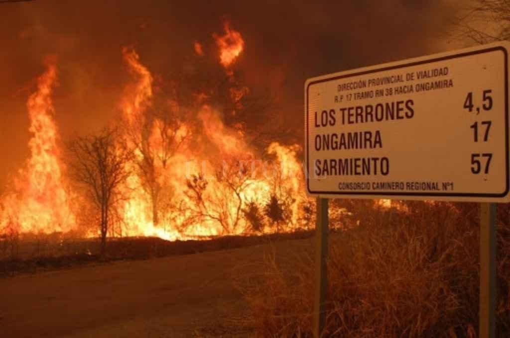 Incendio en las sierras de Córdoba. Crédito: Gentileza