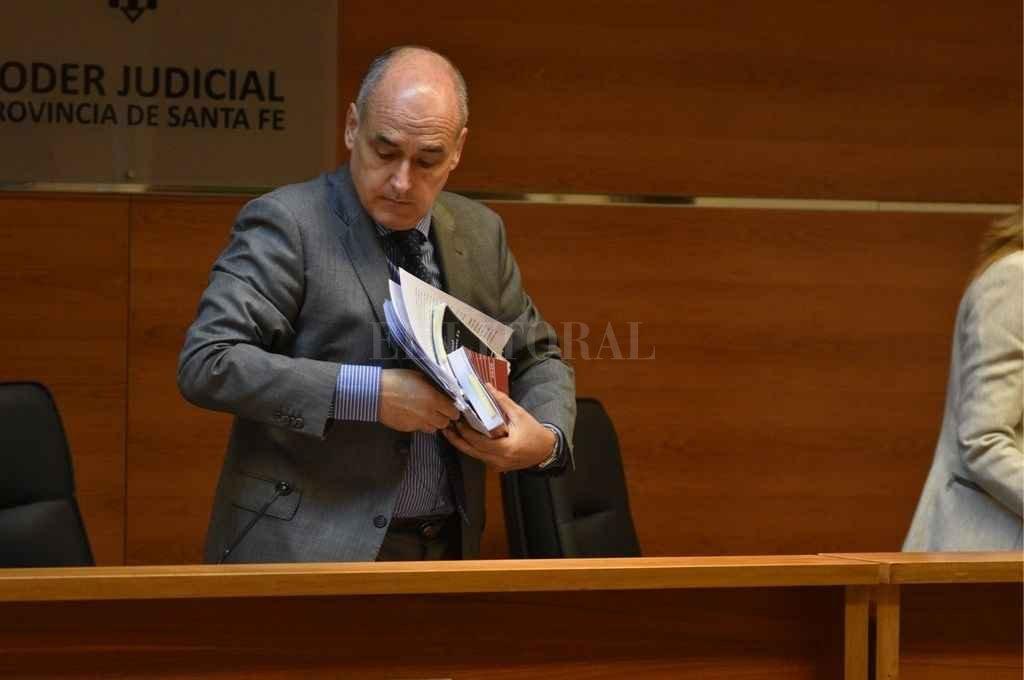 El juez Pablo Busaniche ordenó la cautelar de máxima y dará a conocer los fundamentos de su decisión en los próximos días. Crédito: Guillermo Di Salvatore.