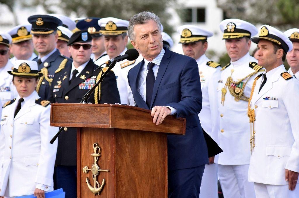 El ex presidente en 2017, luego de la implosión del submarino Ara San Juan. Crédito: Archivo