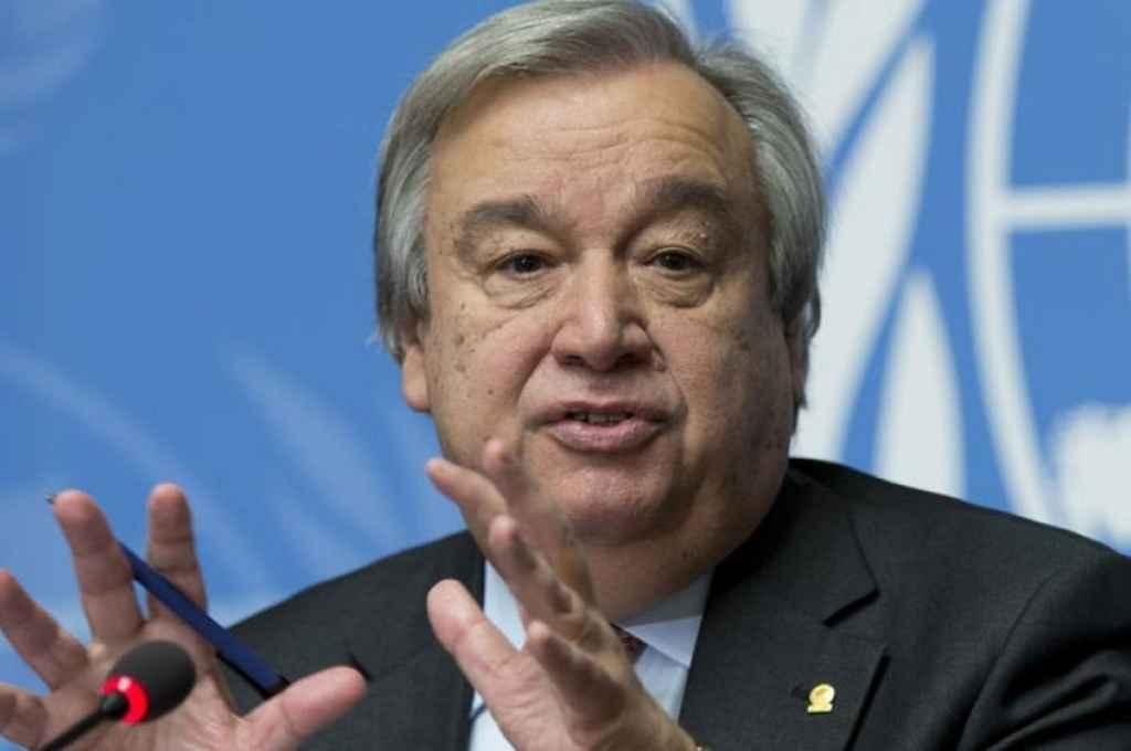 Antonio Guterres, secretario general de la ONU. Mostró su preocupación por el trato que los talibanes tienen hacia las mujeres y las niñas.    Crédito: Gentileza
