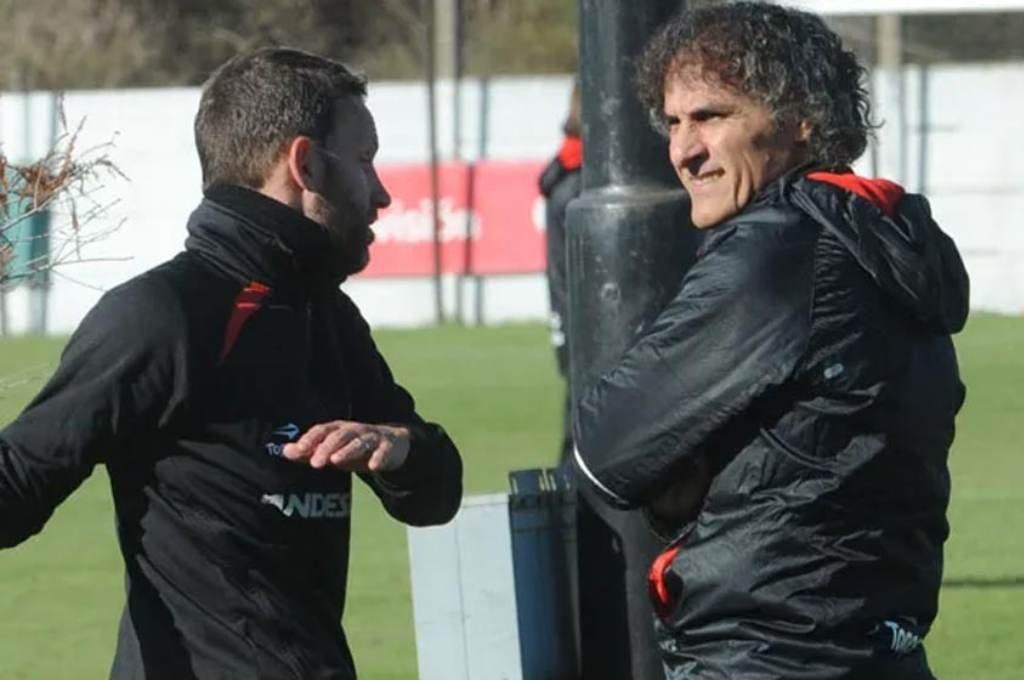 Saldaña y Bernardi, en otros tiempos. Foto:Gentileza.